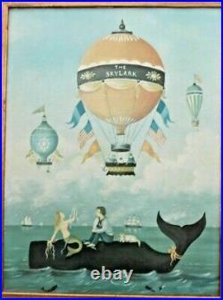 Martha Cahoon The Skylark Painting Canvas Print Mermaid Sailor Whale Balloon