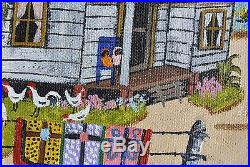 Mary F. Robinson African American Rural Texas Scene Folk Art Artist Painting