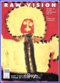 Mary T Smith folk art painting signed plus signed photo and Raw Vision Magazine