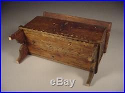 Miniature Grain Painted Blanket Chest or Document Box Folk Art Primitive