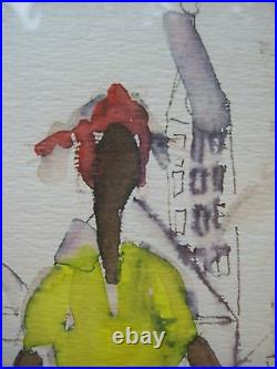 Modernist Folky Mid Century AFRICAN AMERICAN URBAN Composition 3 Figures