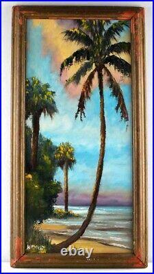 N. E. Wright Signed Original Florida Highwaymen Painting