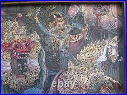 Nyoman Ubud Bali painting vintage village tropical folk masterful ceremony 1970