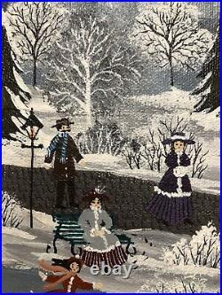 Original American Folk Oil Painting California Artist Ann Rugh Baker Mrs. Bee