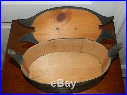 Original Antique Folk Art Handmade Tine Wood Box Scandinavian Painted 1906