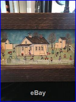 Original DELORES HACKENBERGER Lancaster PA Amish Folk Art Painting