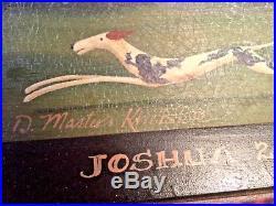 Original Folk Art Salt Box Painting Signed by D. Masters Kriebel