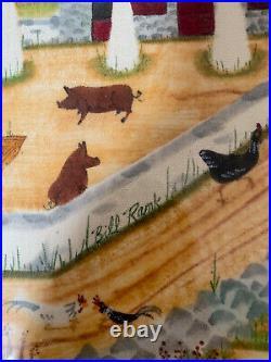 Original Folk Art Theorem FARM By Bill Rank (1921-2000)