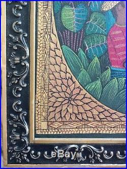 Original Haitian Folk Art Painting Famous Saincilus Ismael Haiti Angels Manna