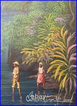 Original Haitian Painting By Bonaventure JN-LOUIS 12X16