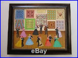 Original Joanne Case Painting American Folk Masterpiece Quilt Exhibition Ball