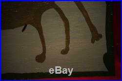 Original Mose T Moses Tolliver Swayback Horse Painting American Folk Art