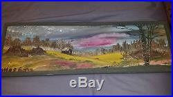 Original Mose T (Tolliver) LandScape Folk Art Painting on Board