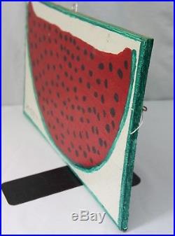 Original Mose Tolliver (MoseT) Watermelon Folk Art Painting