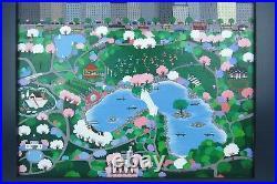 Original Oil Painting Patricia Palermino New York City NYC Central Park Folk Art