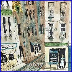 Original Robert Scott Signed Framed Oil Painting Parisian Streets France 29 x 25
