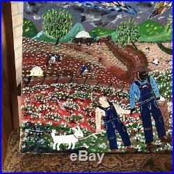 Original Vietnam War Vet Folk Art Painting Aurence Willow Ridge Black Americana