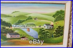 Original Vintage American Folk Art Oil Painting by Simon Zoto