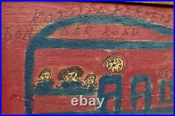 Original WILLIE JINKS folk outsider art painting on WOOD