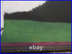 Outsider Folk Art Jimmy Lee Sudduth Painting mud paint CHICKEN FRAMED SIGNED 27