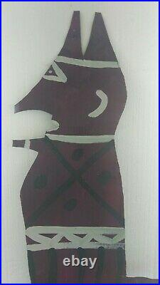 Purple DEVIL Outsider Abstract Folk Art Naive Visionary R A MILLER