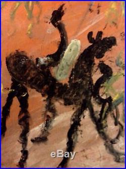 Purvis Young Horses Original 3d Wood Piece Original Art Black outsider folk art