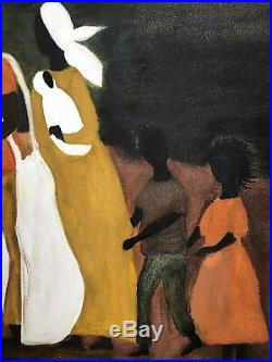 RARE Iconic Mary Whitfield African American Negro Folk Art Painting South Cotton