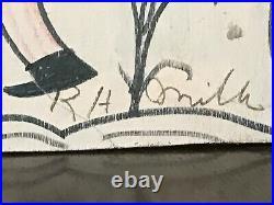 RA MILLER BLOW OSKAR CHASING DEVIL FOR HIS MELON Southern Outsider FOLK ART