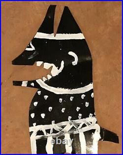 RA Miller Black Devil Original Painting Southern Georgia Folk Outsider Art