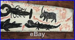 RA Miller Folk art tin Painting