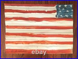 R. A. Miller American Flag Metal Outsider Folk Art