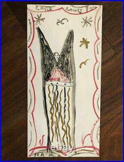 R. A. Miller Blow Oskar On Tin, T-shirt, & Large Fridge Magnet. Folk Art Icon