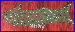 R. A. Miller Painted Fish Metal 2 Sided Outsider Folk Art
