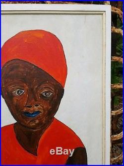 Rare Original Jack Baron Key West Florida Artist Folk Outsider Art Painting