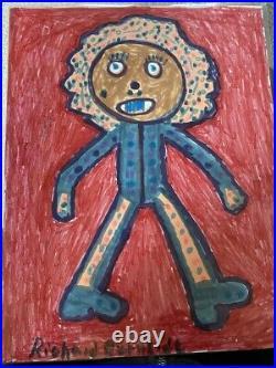 Richard Burnside Folk Art Signed
