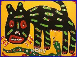 Richard Burnside Painting Cat Snake Lizards S. Carolina Outsider Folk Art
