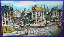 Robert Scott 36 by 24 Paris Street Scene Oil Painting Parisian