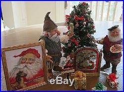 Sharon Cariola Dollmine Santa's Elves! Jo Meyers Painting! Folk Art Santa! More