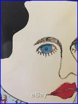 Signed original folk fine art by Howard Finster