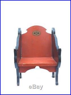 Spectacular 30s 40s Folk Art Deco Vintage Halloween Black Cat Childrens Chair