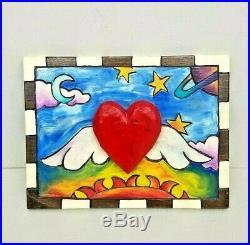 Sticks Furniture Keepsake Box Sarah Grant Hand Painted Wood Folk Art 2002