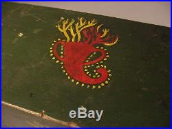 Superb Miniature Paint Decorated Blanket Box or Document Box or Chest Folk Art