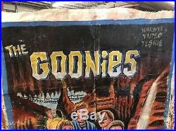 The Goonies Ghana Mobil Cinema Movie Poster Hand Painted Painting Folk Art Rare
