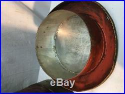 Vintage 10 Gallon Metal Milk Can Tole Painted American Eagle Military Folk Art