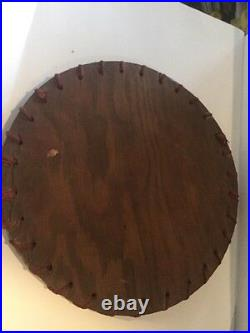 Vintage 1950's Hand Painted Monterey Crackle Wood Tray Folky Mexican