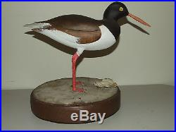 Vintage 1988 Hand Carved American Folk Art Painted DUCK DECOY with Rotating Base