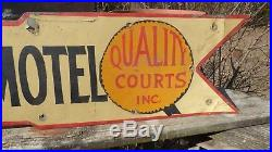 Vintage 42 Metal Caverns Motel Sign- Hand Painted, Hand Crafted, Folk Art