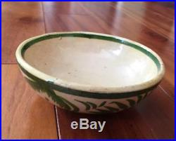 Vintage Folk Art Hand-painted Mexican Redware Pottery Nesting Bowls