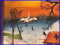 Vintage, Folk Art, Naive Painting, Kowalski, Hungarian Artist