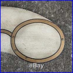Vintage Folk Art Optometrist Wood Trade Sign Eye Glasses Optical Eyes Painted